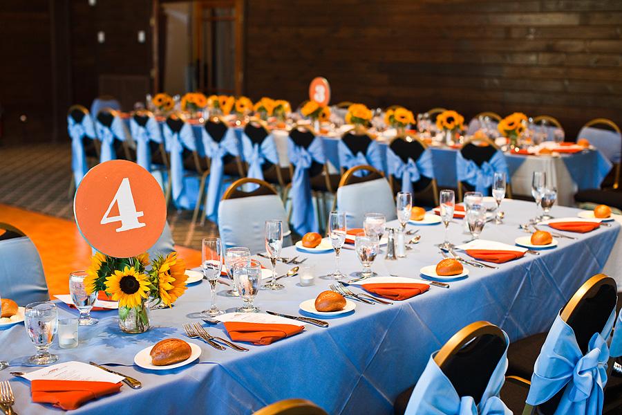 Wedding Decorations Blue And Orange : Wedding decorations domestikatedlife