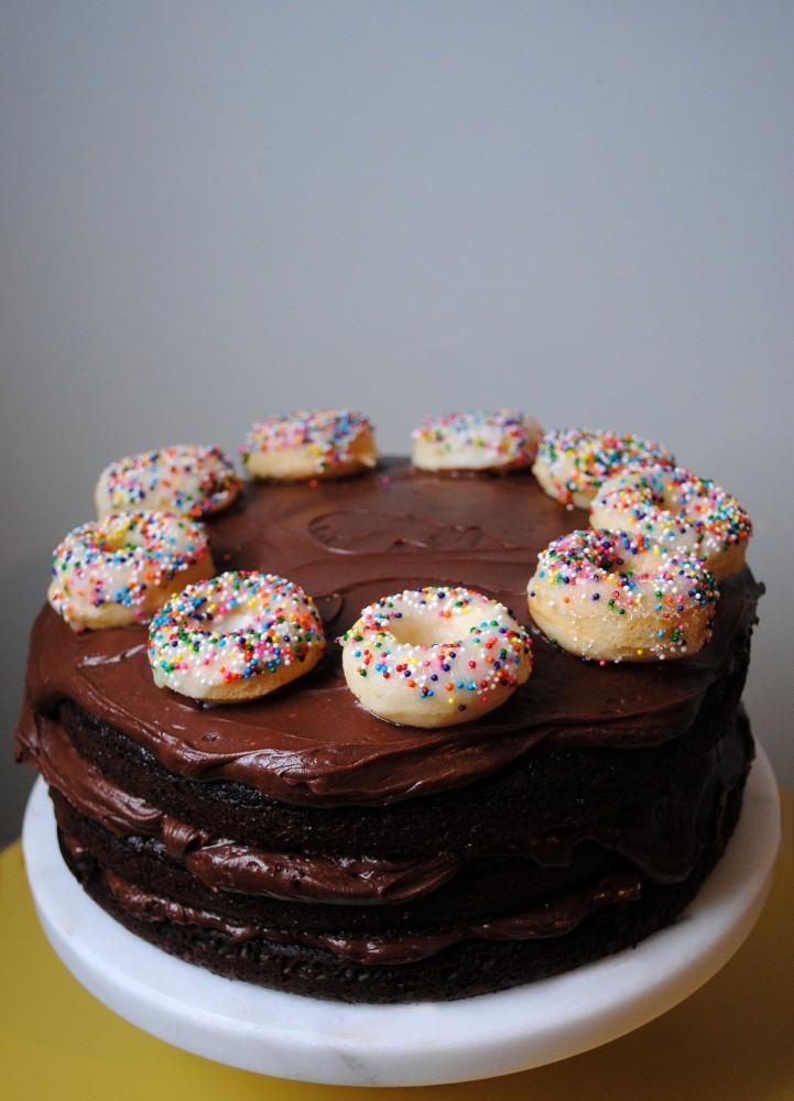 Mini Donut Birthday Cake DomestikatedLife