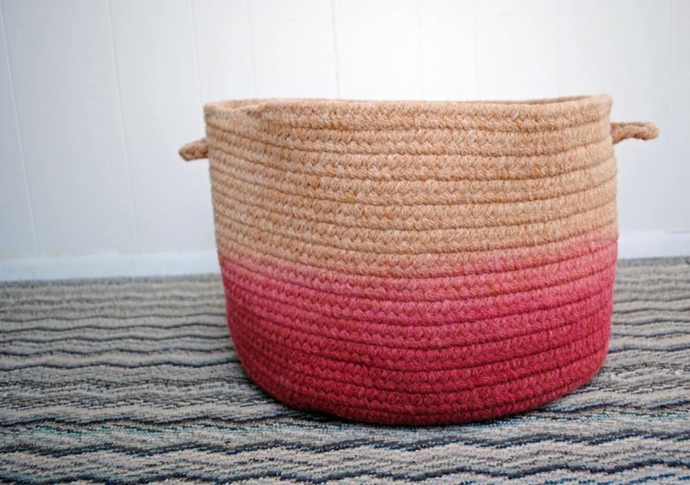 Dip Dye Basket DIY 2