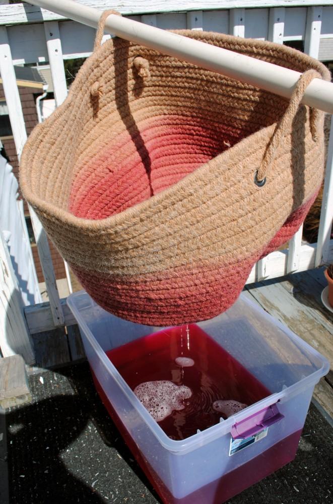 Dip Dye Basket DIY 3