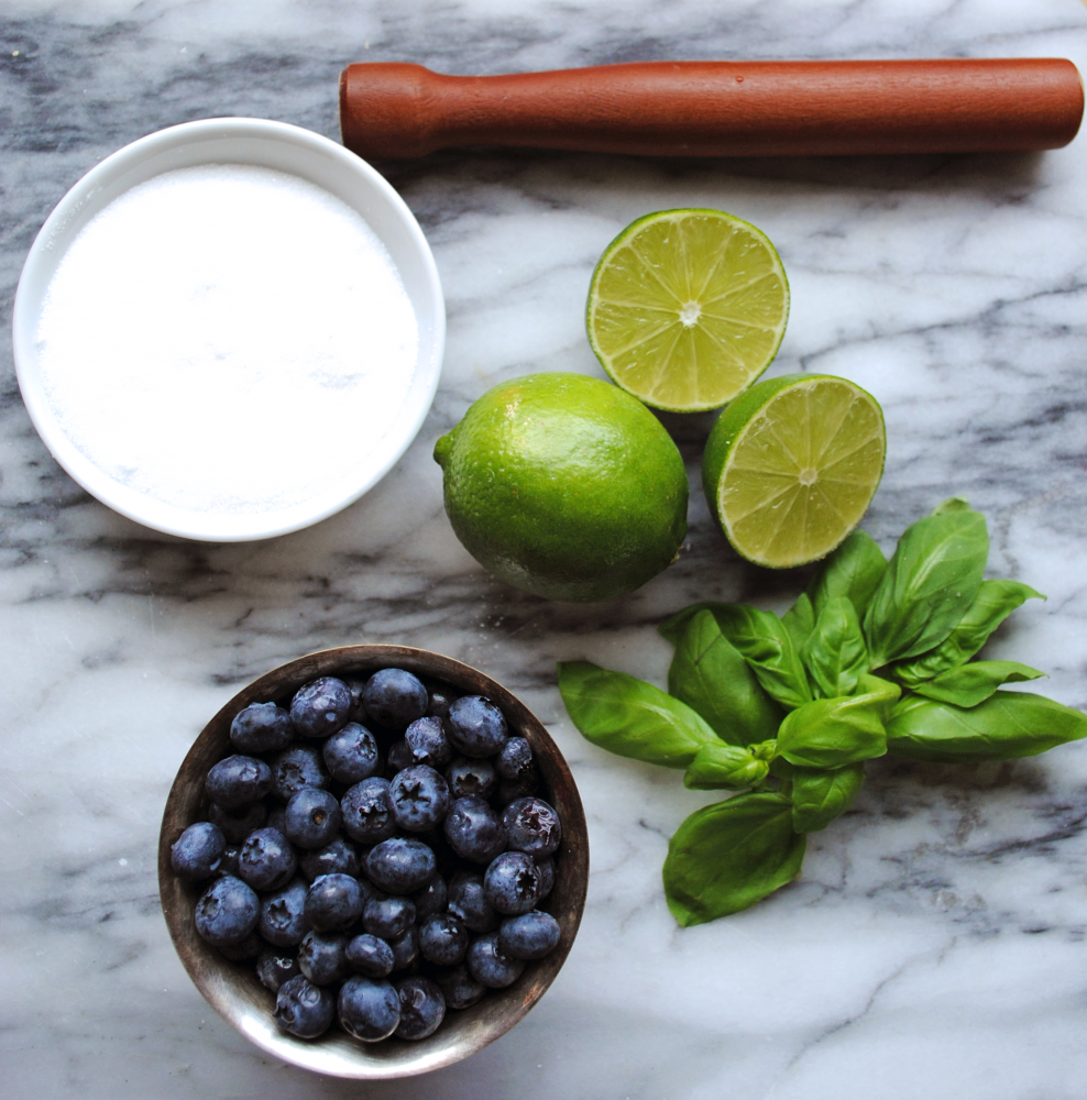 Blueberry Basil Smash Ingredients