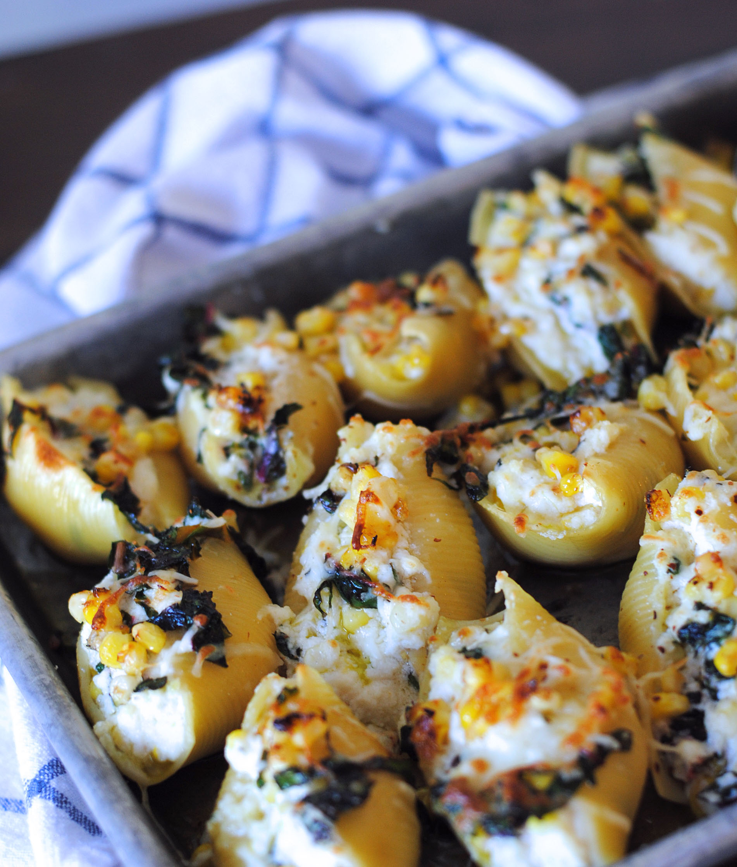 Swiss Chard Stuffed Shells Recipe — Dishmaps