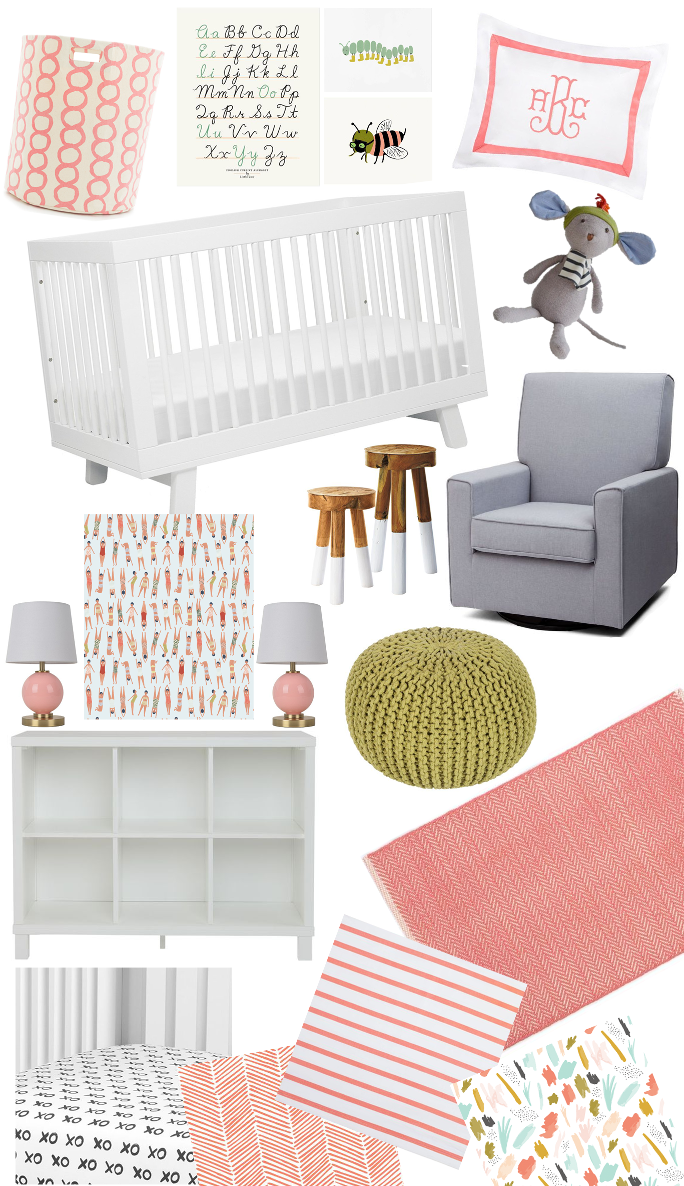 nursery-mood-board-modern-coral