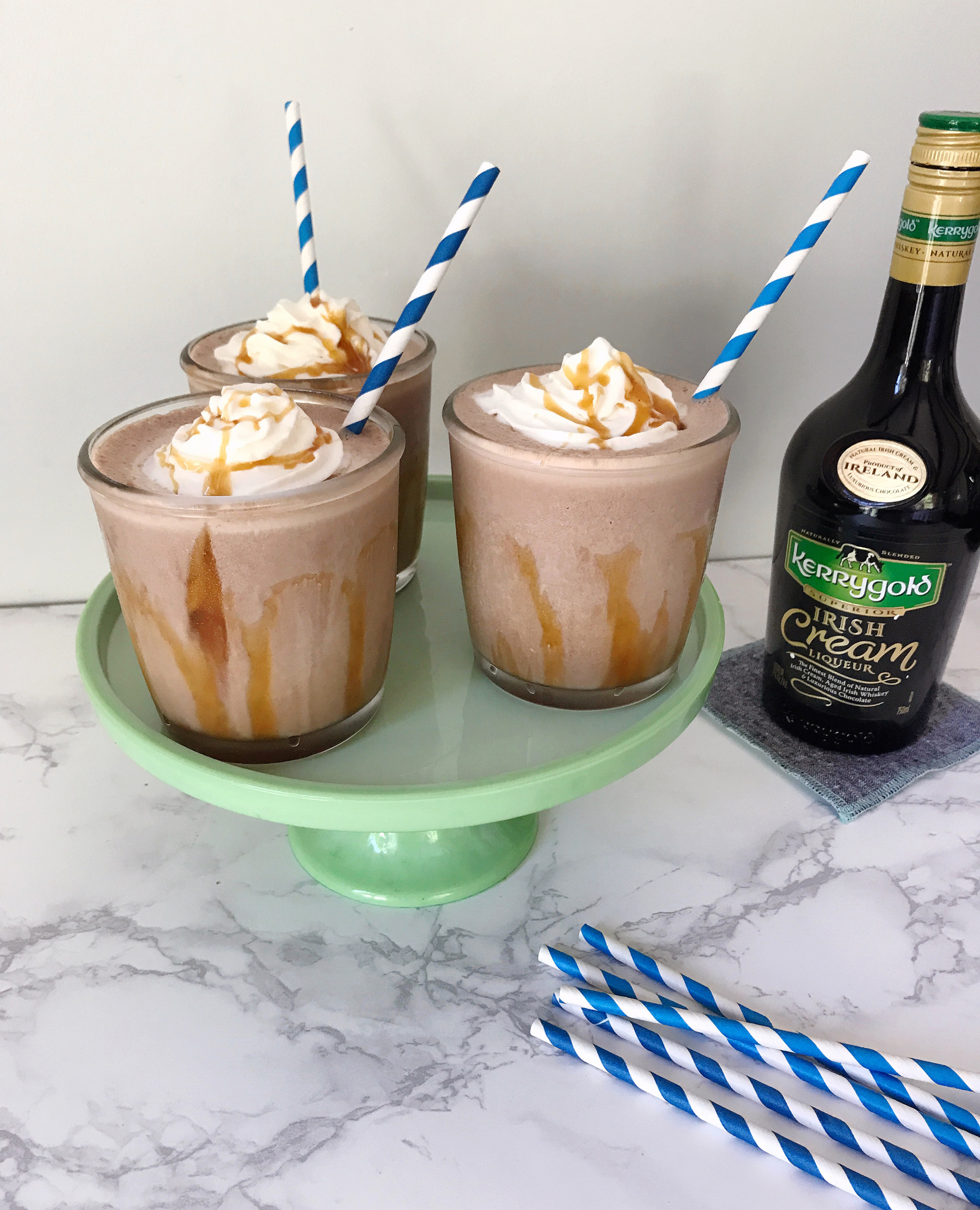 Coffee Chocolate Caramel Spiked Milkshake Recipe | Boston ...