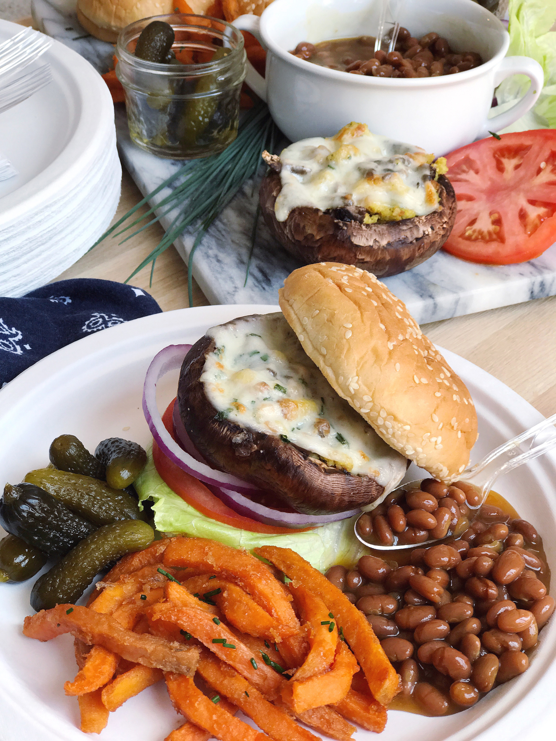 Grilled Stuffed Mushroom Burgers | Vegetarian Barbecue ...