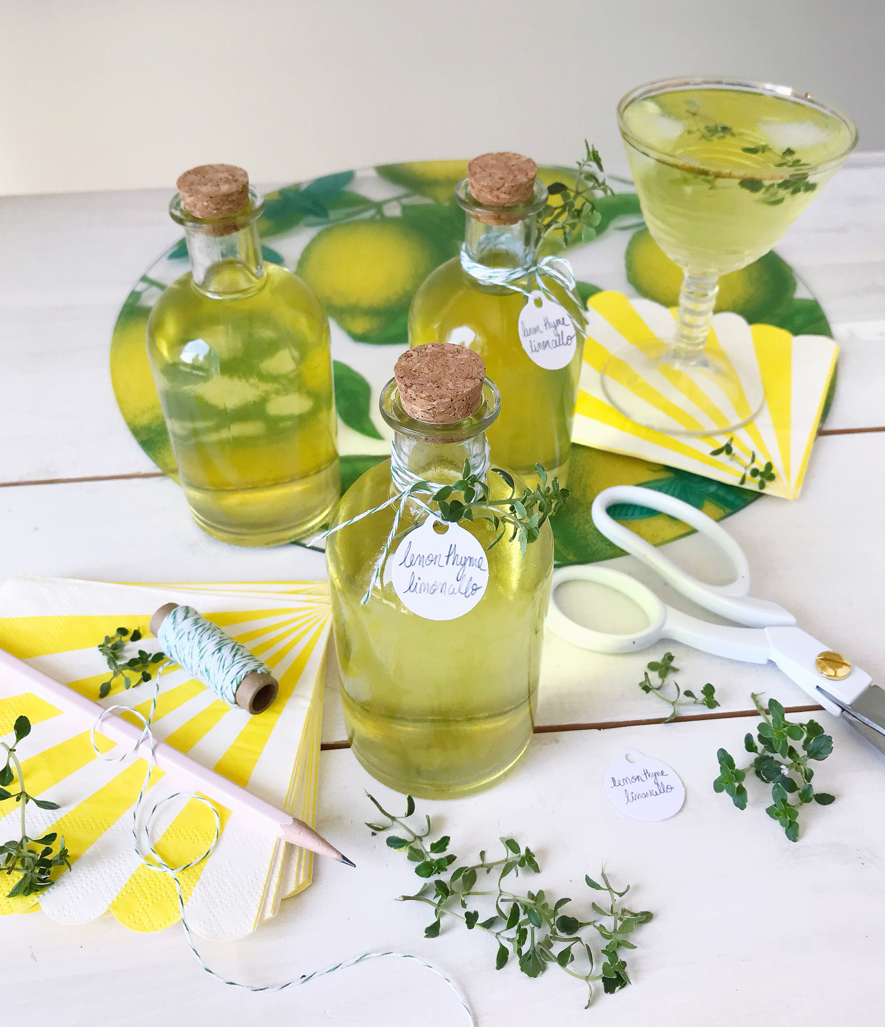 Thyme limoncello hostess gifts domestikatedlife waste you can find it below to diy yourself and the drinks wont go to waste either ill be pouring myself a limoncello and soda spritzer tonight solutioingenieria Choice Image