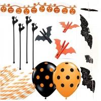 Halloween celebration decorations.