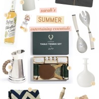 Summer Entertaining Essentials with Chevrons and Stripes.