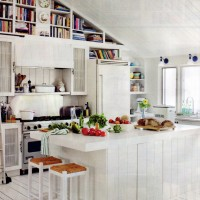 Bright white kitchen.