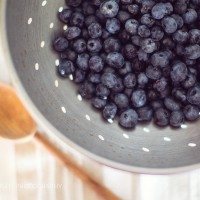 Blueberry Mint Simple Syrup.