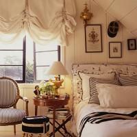 A cozy bed.