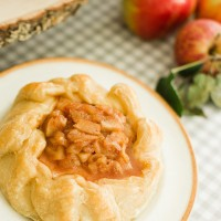 Baked Brie with Apple Compote.