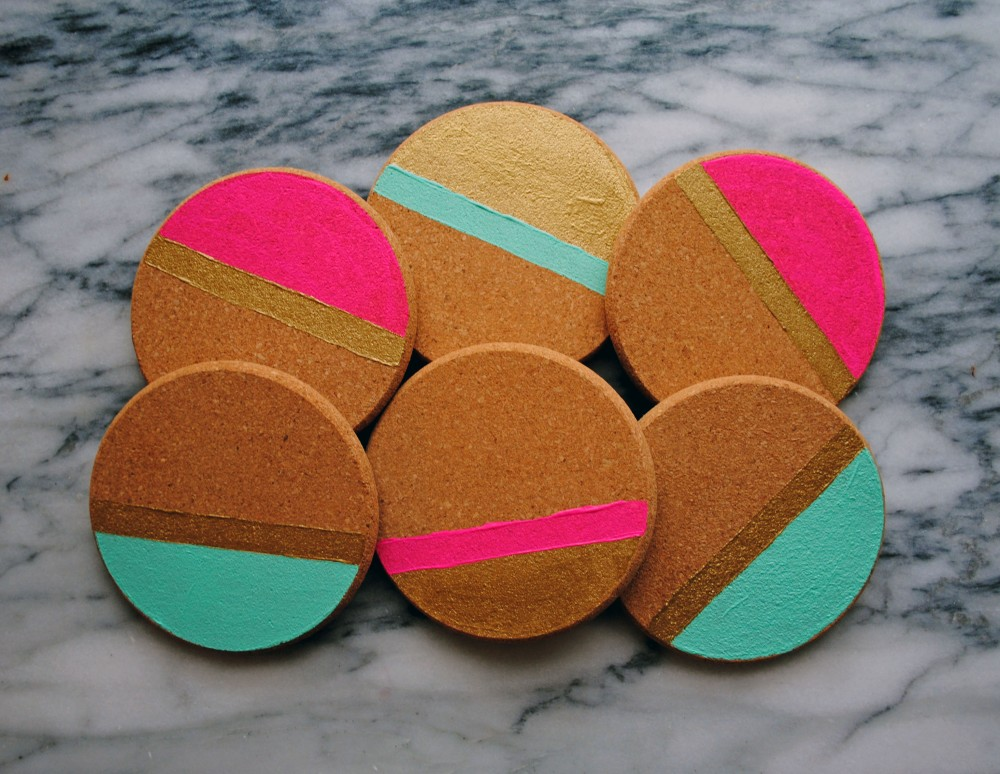 Diy Holidays Painted Cork Coasters Domestikatedlife