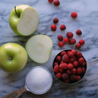 DIY Holidays: Cran-Apple Simple Syrup.