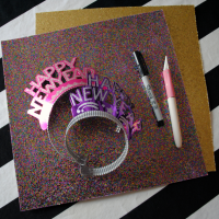 Homemade New Year's Eve Party Crowns.