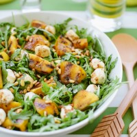 Grilled Peach and Arugula Salad.