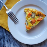 Sweet Potato Blue Cheese Frittata.
