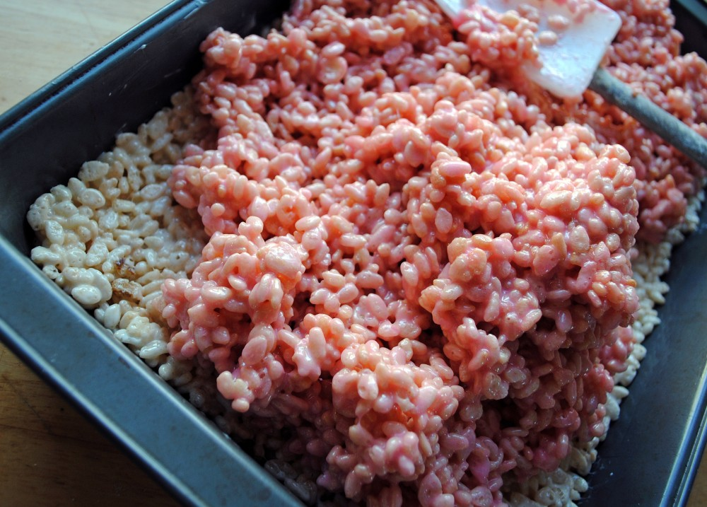 neapolitan rice krispy treats 2