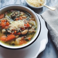 Roasted Garlic White Bean Soup.
