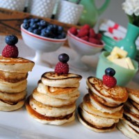 New Year's Brunch Mini-Pancakes.