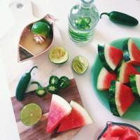 Jalapeño Watermelon Margaritas.