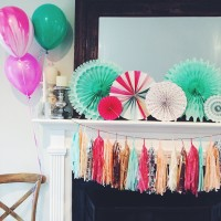 A Pink and Mint Baby Shower.