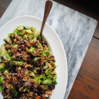 Autumn Brussels Sprout Salad.