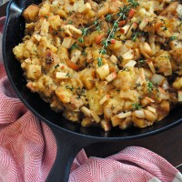 Apple Sausage Cornbread Stuffing.