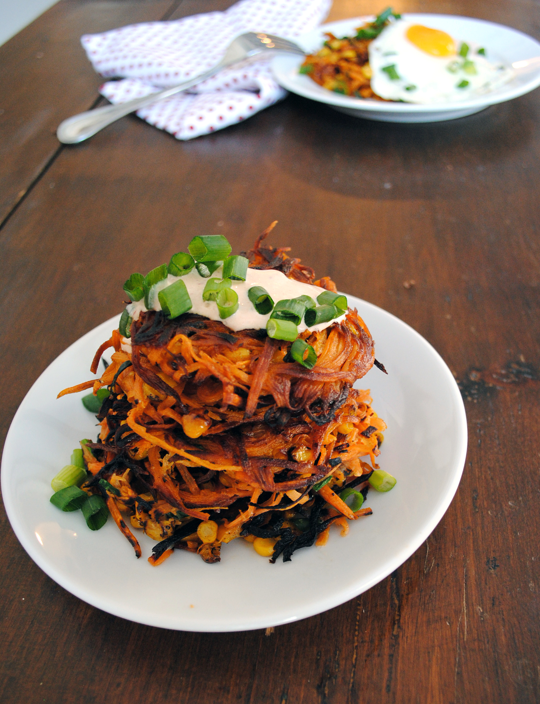 Sweet Potato Corn Cakes 1