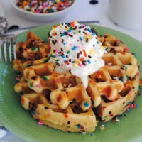 Funfetti Waffles.