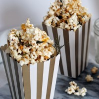 Salted Caramel Rosemary Popcorn + An Oscars Party.