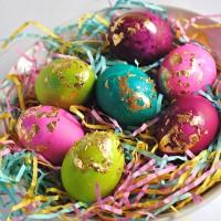 Gilded Easter Eggs.