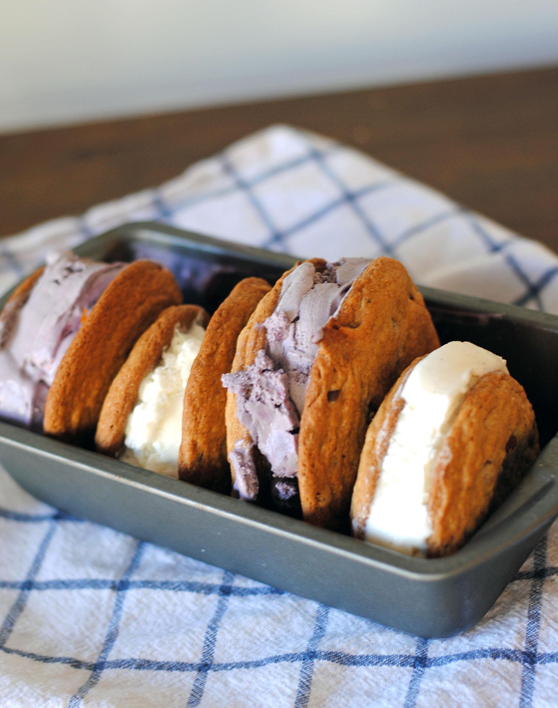 salted caramel ice cream sandwich 1