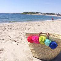 DIY Pom-Pom Beach Tote