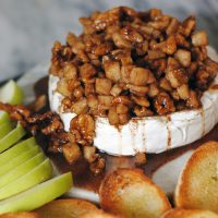 Apple Walnut Baked Brie.