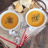 Creamy Autumn Squash Soup.