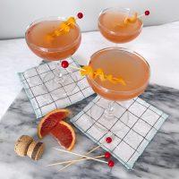 Blood Orange Ginger Cocktails.