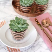 Modern Metallic Tablescape DIYs.