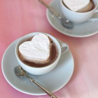 Valentine's Day Mocha and Marshmallows.