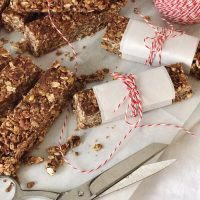 Homemade Chocolate Peanut Butter Granola Bars.
