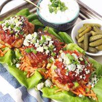Buffalo-BBQ Turkey Burgers