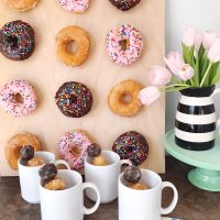 Donut and Coffee Bar Brunch.