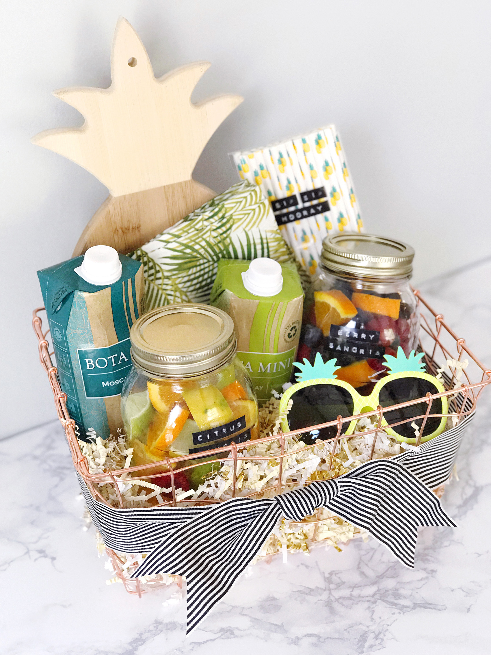 how to make your own gift basket
