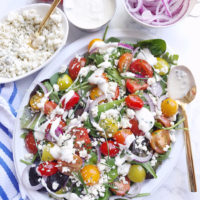 Tomato and Blue Cheese Summer Salad.