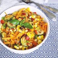 Charred Summer Vegetable Salad.