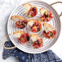 Olive Bruschetta Appetizer Cups