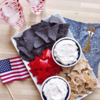 Patriotic Chips and Dip.