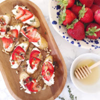 Strawberry Goat Cheese Crostini.