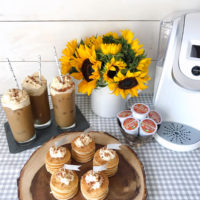 Iced Pumpkin Spice Coffee and Mini-Pancake Brunch.