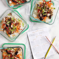 Meal Planning Tips and Spicy Chicken Thigh Rice Bowls.